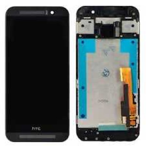HTC One M9 - Full Front LCD Digitizer With Frame Black