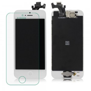 iPhone 5 - LCD Digitizer (original remaded) Full assembled White