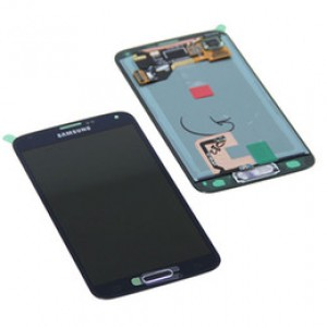 "Samsung Galaxy S5 G900F - Full Front LCD Digitizer Blue "" Service Pack """