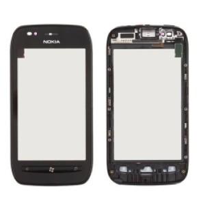 Vidro Touch Screen PretoNokia Lumia 710 -