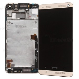 HTC one M7 - Full Front LCD Digitizer with Frame Gold