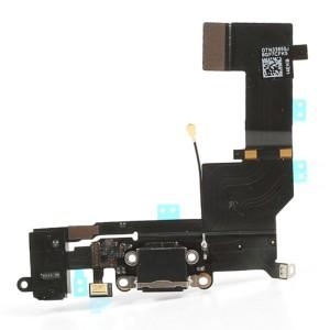 iPhone 5S - Conector de encaixe de carregamento  Flex preto
