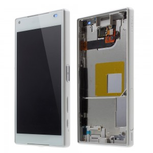 Sony Xperia Z5 Compact E5823 - Full front LCD Digitizer With Frame White