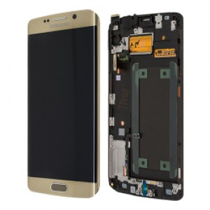 Samsung Galaxy S6 Edge Plus G928F - Full front LCD Digitizer with frame Gold < Service Pack >
