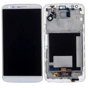 LG Optimus G2 D802 - Full Front LCD Digitizer With Frame White