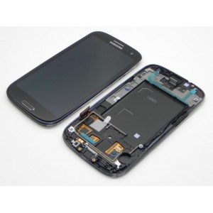 Samsung Galaxy S3 I9300 - Full front LCD Digitizer With Frame Black ( Refurbished )