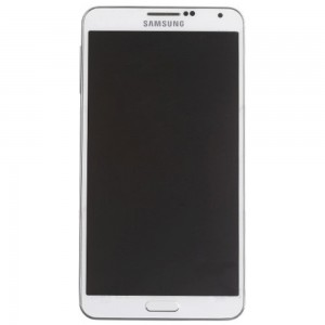 Samsung Note 3 N9000 - Full Front LCD Digitizer With Frame White < Service Pack >