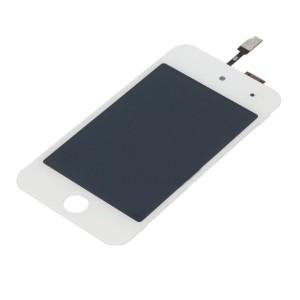 iPod 4th Gen - Full Front LCD Digitizer White