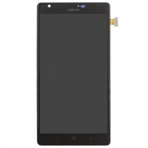Nokia Lumia 1520 - Full Front LCD Digitizer With Frame Black
