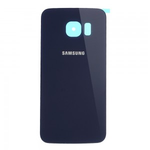 Samsung S6 Edge G925 - Battery Cover Black Saphir with Adhesive