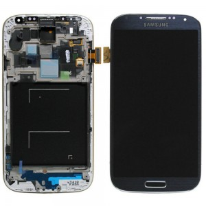 Samsung Galaxy S4 I9505 - Full Front LCD Digitizer With Frame Blue ( Refurbished )