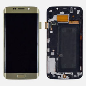 Samsung Galaxy S6 Edge G925 - Full Front LCD Digitiizer Gold With Frame