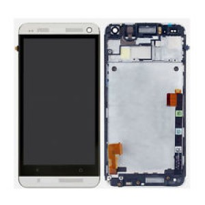 HTC One M7 Mini M4 - Full Front LCD Digitizer with Frame White