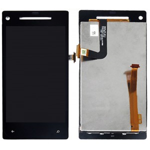 HTC 8X - Full Front  LCD Digitizer with frame Black