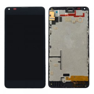 Microsoft Lumia 640 LTE - Full Front LCD Digitizer With Frame Black