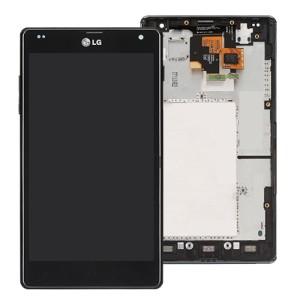 LG Optimus G E975 - Full Front LCD Digitizer with Frame Black