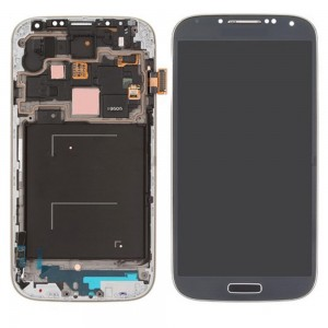 "Samsung Galaxy S4 I9505 - Full Front LCD Digitizer With Frame Blue   ""Service Pack"""