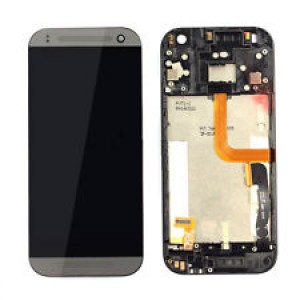 HTC One M8 Mini - Full Front LCD Digitizer with Frame Black
