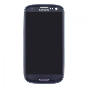 Samsung Galaxy S3 I9300 - Full front LCD Digitizer With Frame Blue ( Refurbished )