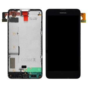 Nokia Lumia 630/635  - Full Front LCD Digitizer With Frame Black