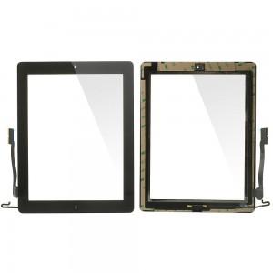 iPad 3/4 - Vidro Touch Screen com 3M Adhesive Sticker Preto