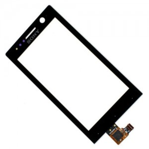 Sony Xperia U ST25 - Vidro Touch Screen Preto