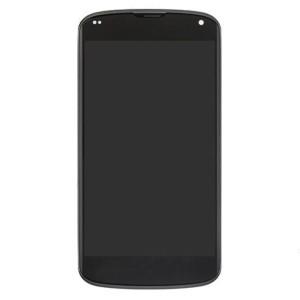 LG Nexus 4 E960 - Full Front LCD Digitizer With Frame Black