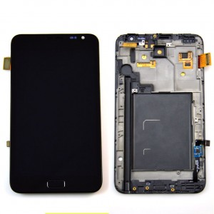 Samsung Note 1 N7000 - Full Front LCD Digitizer With Frame Black