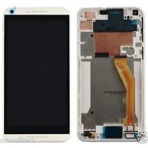 HTC Desire 816H - Full Front LCD Digitizer with Frame White