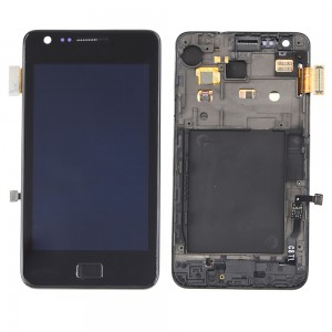 Samsung Galaxy S2 I9100 - Full Front LCD Digitizer with Frame Preto