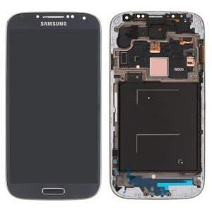 Samsung Galaxy S4 I9500 - Full Front LCD Digitizer With Frame  Blue ( Refurbished )