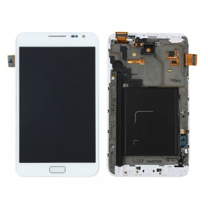 Samsung Note 1  N7000 - Full Front LCD Digitizer With Frame White