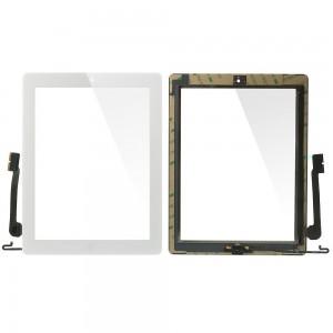 iPad 3/4 - Vidro Touch Screen com 3M Adhesive Sticker Blanc