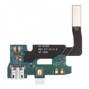 Samsung Galaxy Note 2 N7100 - Conector de Carregamento Flex Rev 0.7