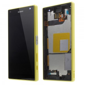 Sony Xperia Z5 Compact E5823 - Full front LCD Digitizer With Frame Yellow
