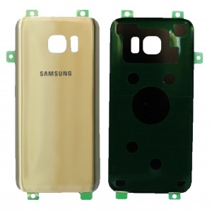 Samsung Galaxy S7 Edge G935F - Battery cover Gold with Adhesive