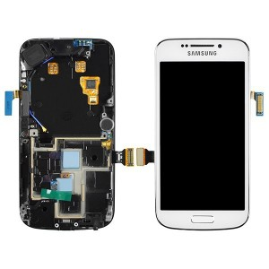 Samsung Galaxy S4 Zoom - Full Front LCD Digitizer With Frame White