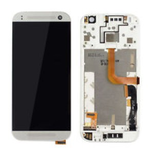 HTC One M8 Mini - Full Front LCD Digitizer with Frame White