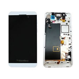 Blackberry Z10 - Full Front LCD Digitizer With Frame  White