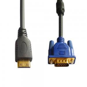 Cable Mini HDMI Male to VGA Female 1M