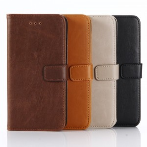 iPhone X - Crazy Horse Leather Card Holder Case