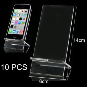 Clear Acrylic Two-Piece Cross Design Phone Exhibition Display Stand Holder 10X