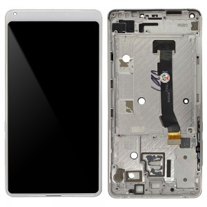 Xiaomi Mi Mix 2S - Full Front LCD Digitizer with Frame White