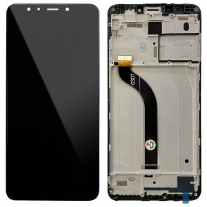 Xiaomi Redmi 5 - Full Front LCD Digitizer with Frame Black