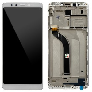 Xiaomi Redmi 5 - Full Front LCD Digitizer with Frame White