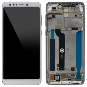 Asus Zenfone 5 Lite ZC600KL - Full Front LCD Digitizer with Frame Moonlight White