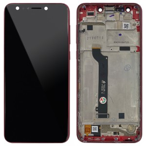 Asus Zenfone 5 Lite ZC600KL - Full Front LCD Digitizer with Frame Rouge Red