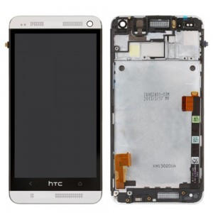 HTC one M7 -  Full Front LCD Digitizer with Frame White