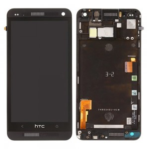 HTC one M7 -  Full Front LCD Digitizer with Frame Black