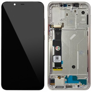 Xiaomi Mi 8 - Full Front LCD Digitizer with Frame White